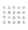 Line Global Navigation Icons vector image