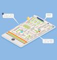 mobile smart phone landmark showplace map pointer vector image