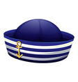 A blue hat with an anchor vector image vector image
