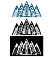 abstract mountains set vector image