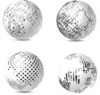Abstract Tech Spheres vector image vector image