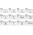 Application line icon set vector image vector image