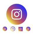 astana kazakhstan -10 july 2020 instagram icon vector image vector image