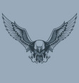 attacking eagle monochrome tattoo style vector image