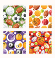 ball seamless pattern football basketball soccer vector image vector image