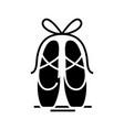 Ballet shoes black icon concept
