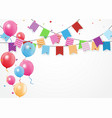birthday celebration banner vector image vector image