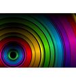 black rainbow vector image vector image