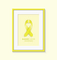 bladder cancer awareness frame vector image vector image