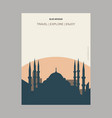 blue mosque istanbul turkey vintage style vector image