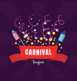 carnival funfair banner template amusement park vector image vector image