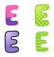 cartoon font type vector image vector image