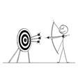 cartoon successful man or businessman shooting vector image vector image