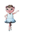 character pig ballerina vector image vector image