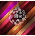 Christmas ball with place for your text EPS 10 vector image vector image
