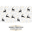 christmas card with deer and snowflakes vector image vector image