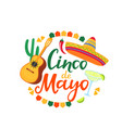 cinco de mayo banner hand drawn lettering 5th of vector image vector image