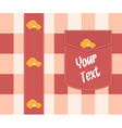 cloth background with buttons vector image