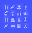 cosmetics gradient icons set on blue background vector image vector image