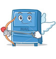 cupid mailbox character cartoon style vector image vector image