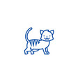 cute cat line icon concept cute cat flat vector image