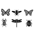 Dirty insect set vector image