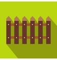 Fence icon with shadow vector image vector image