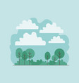 forest landscape scene icon vector image
