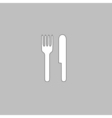 fork and knife computer symbol vector image