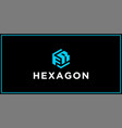 fr hexagon logo design inspiration vector image vector image