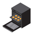 gas oven icon isometric style vector image