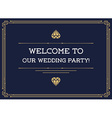 Gatsby Style Invitation in Art Deco or Nouveau vector image vector image