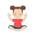 girl doing yoga girl doing yoga vector image vector image