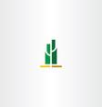 green cactus logo sign vector image vector image