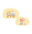 greening fatherhood childhood care set concept vector image vector image