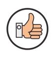 hand like symbol flat icon vector image