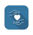 heart disease prevention icon flat design vector image