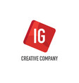 initial letter ig logo template design vector image vector image