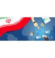 iran economy fiscal money trade concept vector image vector image