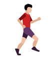 isolated person running icon vector image