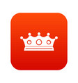 jewelry crown icon digital red vector image vector image