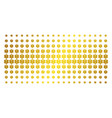 life star golden halftone pattern vector image