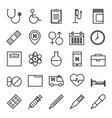 medical and health outline icon set vector image vector image