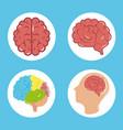 mental health day psychology medical treatment vector image vector image