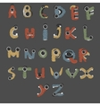 Monster english Alphabet shaped as monsters vector image vector image