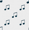 musical note music ringtone icon sign Seamless vector image vector image
