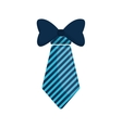 necktie bowtie elegant father day vector image