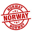norway red round grunge stamp vector image vector image