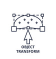 object transform line icon concept object vector image vector image