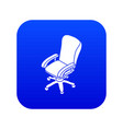 office chair wheel icon blue vector image vector image